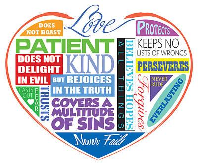 Scriptures Digital Art - Love Is Patient by Greg Joens