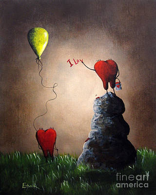 Pop Surrealism Painting - Love Is Playful By Shawna Erback by Shawna Erback