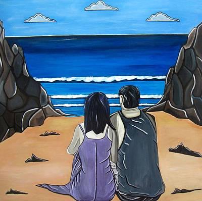 Landsape Painting - Love Is by Sandra Marie Adams