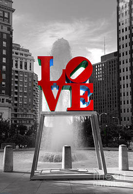 Fountain Photograph - Love Isn't Always Black And White by Paul Ward