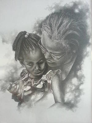African-american Drawing - Love by James Rodgers
