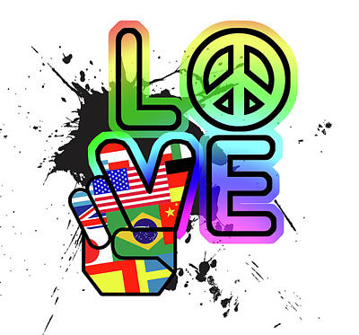 Peace Wall Art - Painting - Love by Jim Baldwin