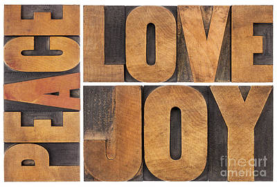 Love Joy And Peace Art Print