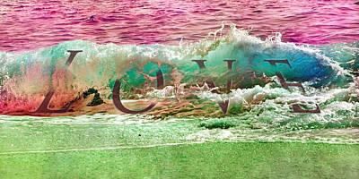Beach Mixed Media - Love Karma by Betsy Knapp
