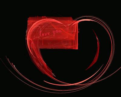 Love Letter Fine Fractal Art Print by Georgeta  Blanaru
