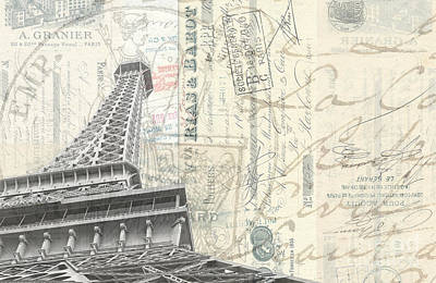 Photograph - Love Letter From Paris Wide by Edward Fielding