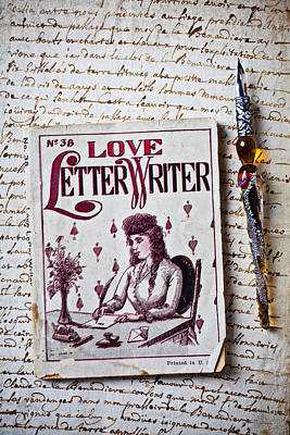Love Letter Writer Book Art Print