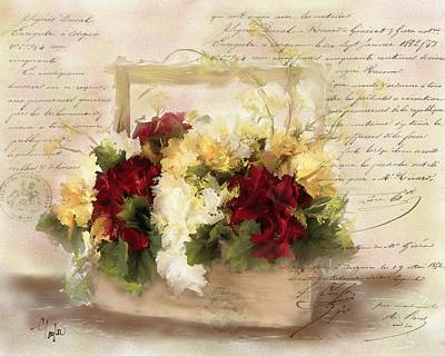 French Country Mixed Media - Love Letters by Colleen Taylor