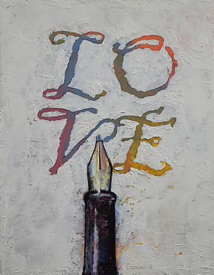 Amor Painting - Love by Michael Creese