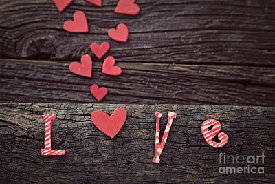Valentine Card Photograph - Love Letters by Mythja  Photography