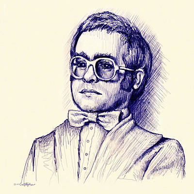 Elton John Wall Art - Drawing - Love Lies Bleeding by Cristophers Dream Artistry