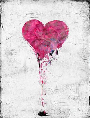 Love Lies Bleeding Art Print by Gillian Singleton