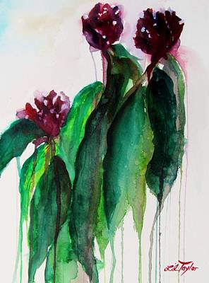 Garden Painting - Love Lies Bleeding by Lil Taylor