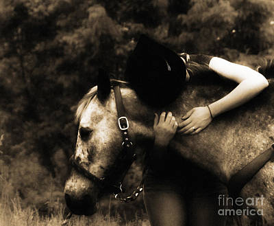 Beautiful Cowgirl Art Photograph - Love Like A Cowgirl by Steven Digman