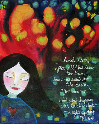 Painting - Love Like That Lights Up The Sky by AnaLisa Rutstein