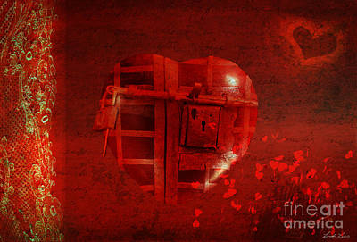 Digital Art - Love Locked by Linda Lees