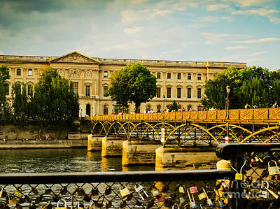 Photograph - Love Locks And The Pont Des Arts Bridge In France by MaryJane Armstrong