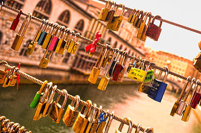 Photograph - Love Locks by Graham Hawcroft pixsellpix