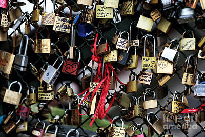 Photograph - Love Locks In Paris by John Rizzuto