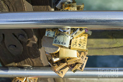 Old Masters Royalty Free Images - Love locks on a bridge in Venice Royalty-Free Image by Patricia Hofmeester