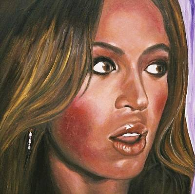 Beyonce Knowles Painting - Love Lost? by Steve Barker