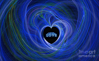 Digital Art - Love - Love - Love by Kaye Menner