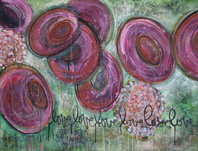 Painting - Love Love Love Rbc by Laurie Maves ART