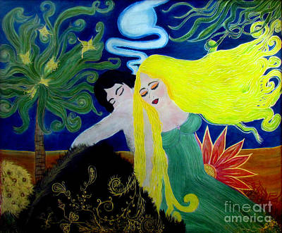Equilibrium Painting - Love Magic by Veronica V Jackson