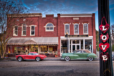 Love Main Street On Saturday Morning Art Print by Williams-Cairns Photography LLC