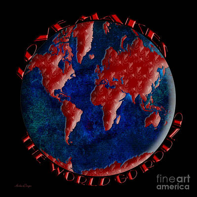 Digital Art - Love Makes The World Go Round 2 by Andee Design