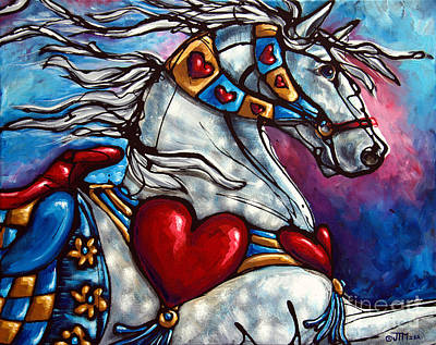 Painting - Love Makes The World Go Round by Jonelle T McCoy