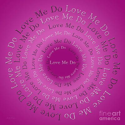 Digital Art - Love Me Do 4 by Andee Design