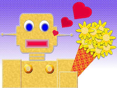 Bot Digital Art - Love Me I'm A Bot by Ricardo  De Almeida
