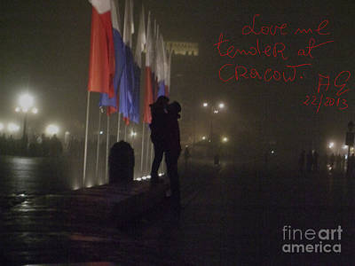 Love Me Tender - Power Of Love At Cracow . Art Print by  Andrzej Goszcz