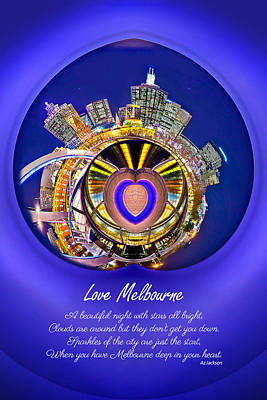 Love Photograph - Love Melbourne by Az Jackson