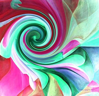 Digital Art - Love Modern Abstract Art by Annie Zeno