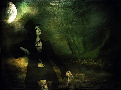 Twilight Zone Photograph - Love Moonlight Song Of Vampiress by Jenny Rainbow