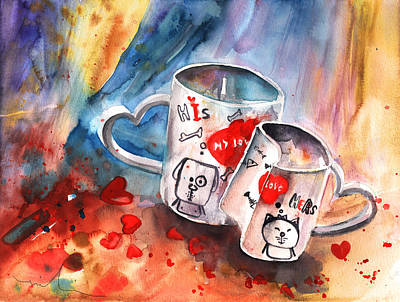 Painting - Love Mugs by Miki De Goodaboom