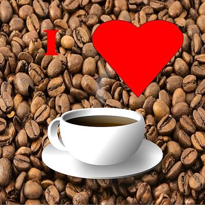 Digital Art - Love My Coffee by Florene Welebny