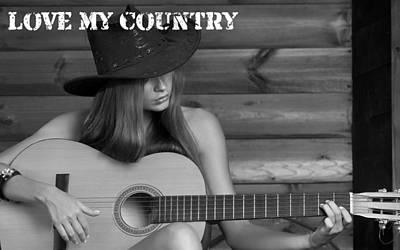 Love Digital Art - Love My Country by Marvin Blaine