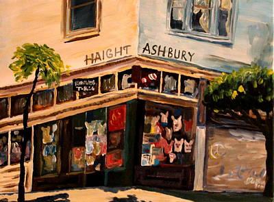 Haight Ashbury Painting - Love N Haight In Haight Ashbury by M Bleichner