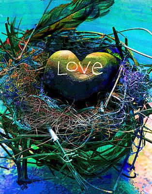 Grandfather Mixed Media - Love Nest by Michele Avanti