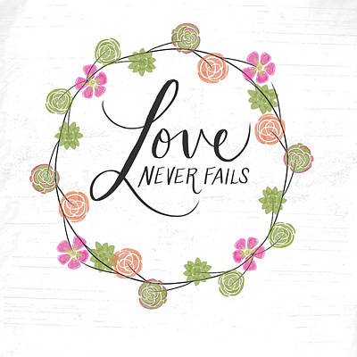 Day Painting - Love Never Fails by Katie Doucette