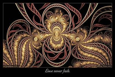 Digital Art - Love Never Fails by Missy Gainer