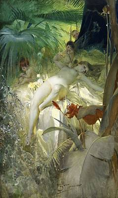 Digital Art - Love Nymph by Anders Zorn