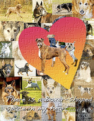 Boxer Dogs Digital Art - Love Of Boxers by Judy Wood