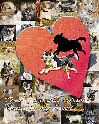 Herding Dog Digital Art - Love Of Dogs--general Version by Judy Wood