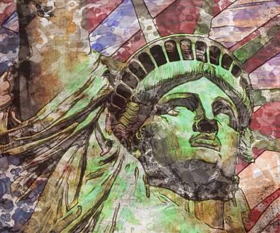 Independence Mixed Media - Love Of Liberty Haiku Edition by Mark Taylor