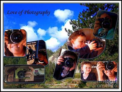 Photograph - Love Of Photography Collage by Bobbee Rickard