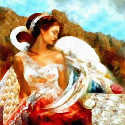 Painting - Love Of Swan by Scott B Bennett